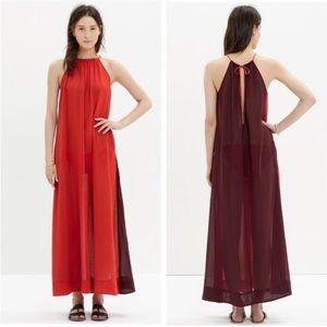 Madewell Red Aruba Cover-up Maxi Dress
